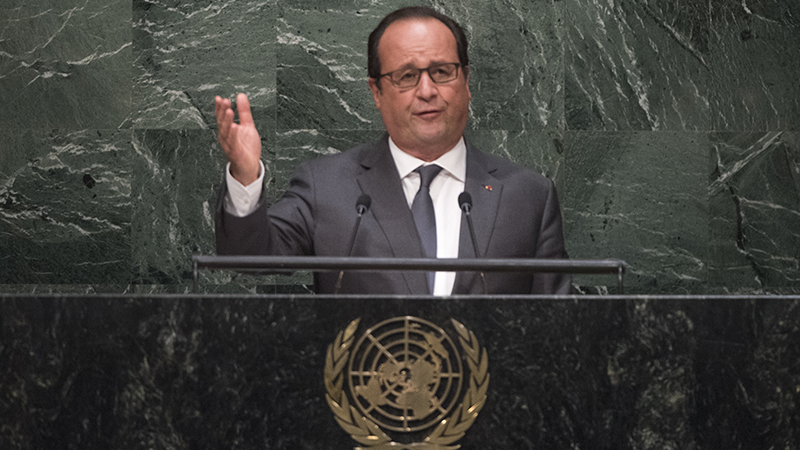 Climate finance is essential to a Paris climate deal, says President Hollande (UN Photo)