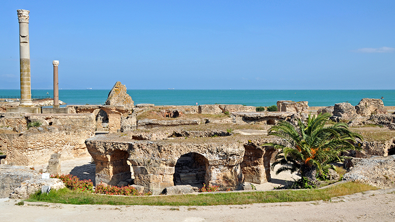 Roman ruins off the coast in Tunis, Tunisia (Flickr/ Dennis Jarvis)