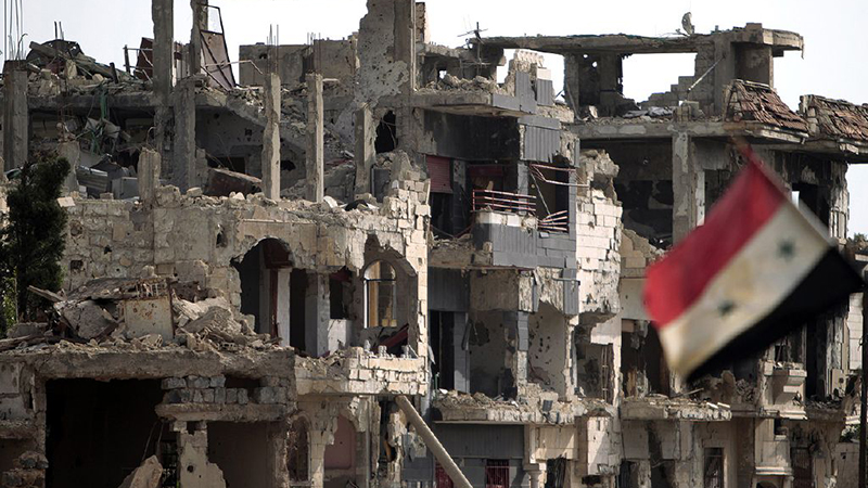 Destroyed buildings in Homs Flickr/ Freedom House)