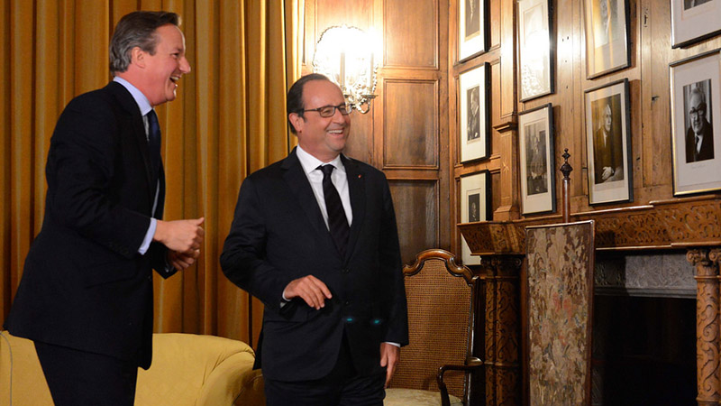 Cameron and Hollande discussed climate change during a recent meeting at the PM's Chequers residence (Pic: Number 10/Flickr)