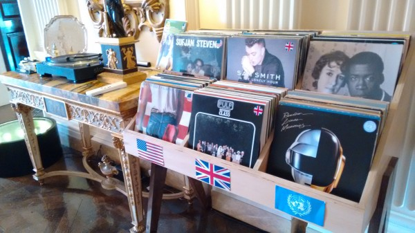 Matthew Barzun's vinyl collection (Pic: Megan Darby)