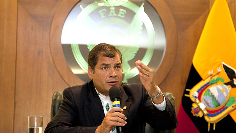 Ecuador President Rafael Correa seeks to write a column to make the case for his country's innovative climate proposals (credit: Wikimedia commons)