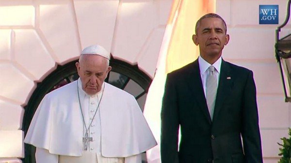 Pope backs climate change action at White House