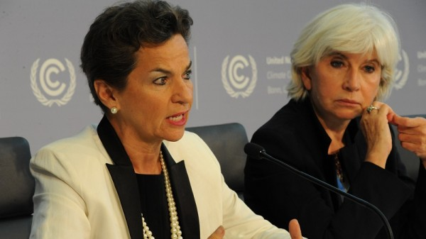 Christiana Figueres and Laurence Tubiana give a press conference (Flickr/UNclimatechange)