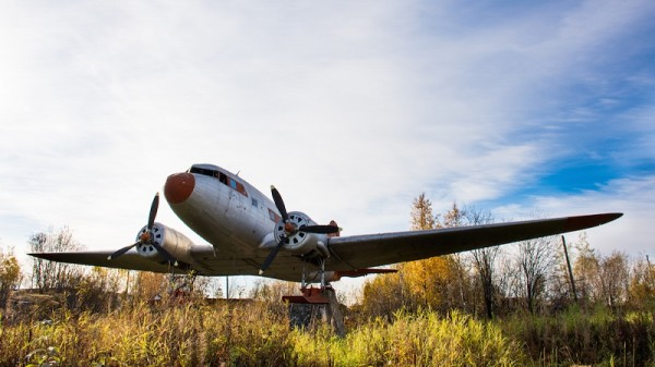 You know how sometimes streets have old Soviet aeroplanes in them? (Pic: Olga Dobrovida)