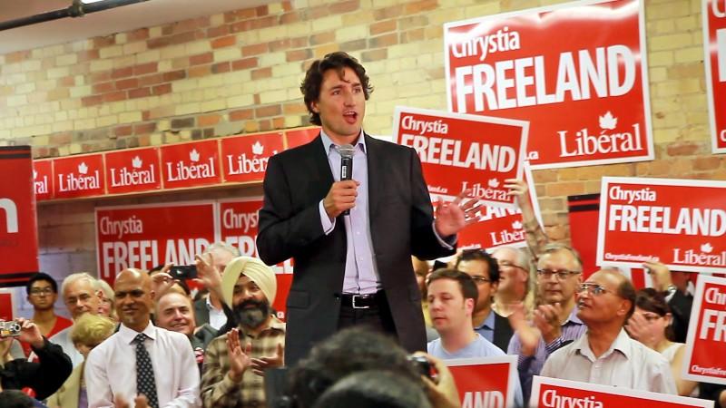 Justin Trudeau, the son of a former prime minister, ended Stephen Harper's nine-year rule (Flickr/ Joseph Morris)