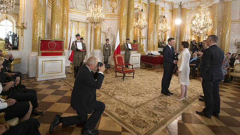 President Duda is sworn in on 6 August (Flickr/