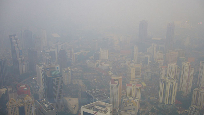 Thomas Galvez Follow View of KL from KL Tower with Smoke haze from Indonesia
