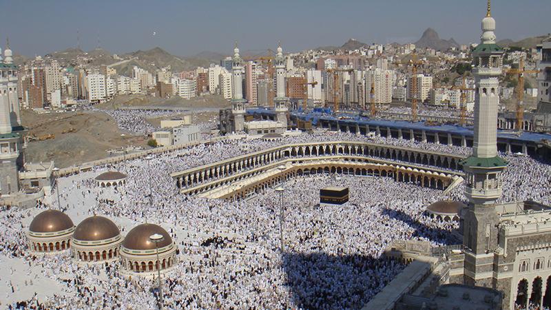 Hajj 2008 Al-Haram Mosque at the start of Hajj in 2008 (Flickr/ Al Jazeera English)