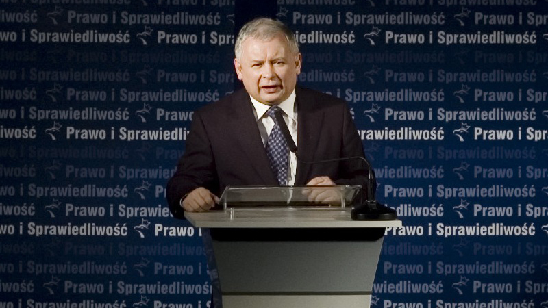 Leader of opposition party Law and Justice, Jaroslaw Kaczynski is on course to become Poland's prime minister in the Oct 25 election (credit: Wikimedia commons)