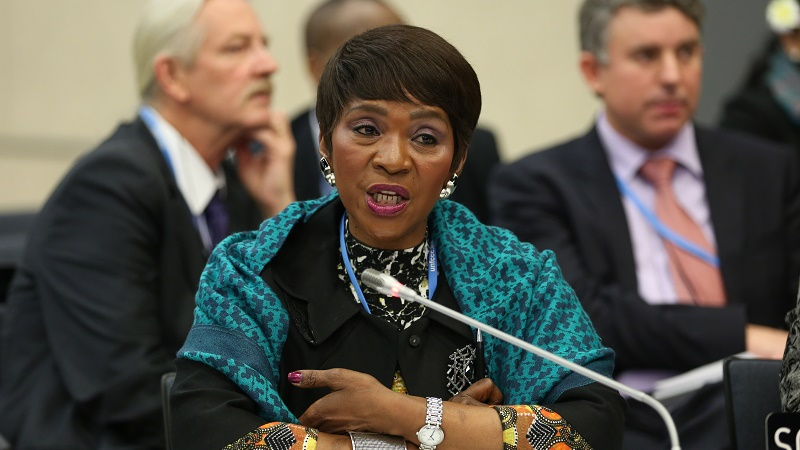 South African negotiator Nozipho Mxakato-Diseko speaks for the G77+China bloc (Pic: IISD)