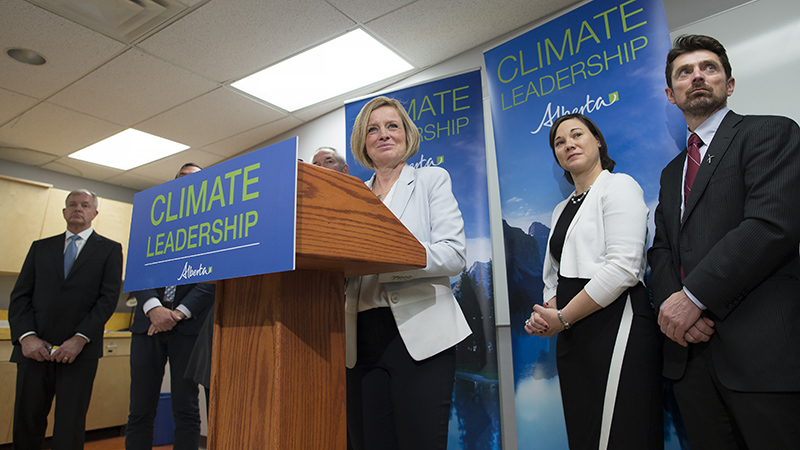 Premier Rachel Notley and Environment and Parks Minister Shannon Phillips released details at Edmonton's Telus World of Science on Sunday, November 22, 2015 about Alberta's Climate Leadership Plan. (Chris Schwarz/Government of Alberta)