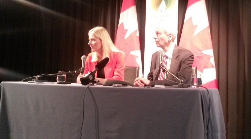 Catherine McKenna and Stéphane Dion (Pic: Ed King)