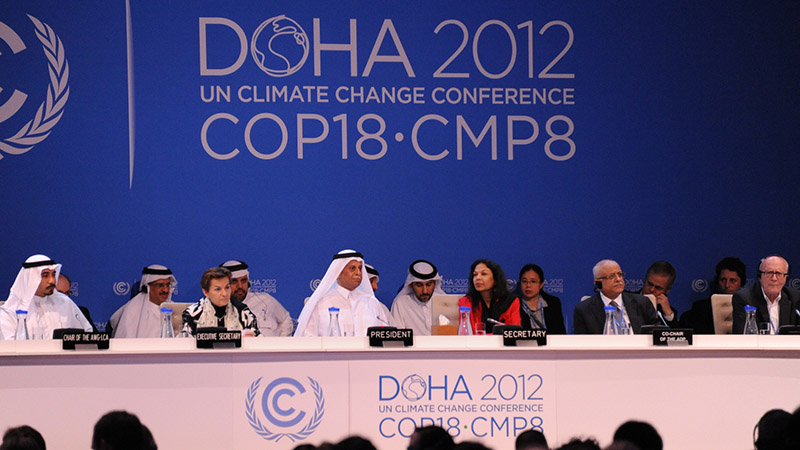 Piloting global warming talks in the capital of gas giant Qatar was one of Figueres' toughest challenges to date (Pic: UNFCCC/Flickr)