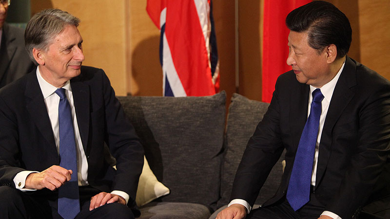 British foreign secretary Philip Hammond meets Chinese president Xi Jinping (Pic: FCO/Flickr)