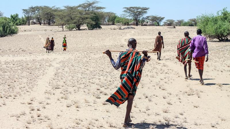 Pastoralists in Lorengelup, Turkana (Pic: Joe Lukhovi)