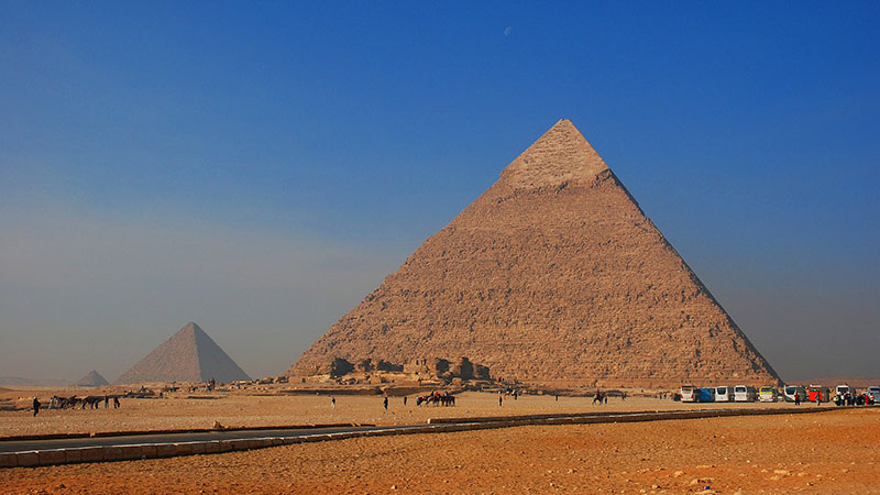 "Pyramids in Egypt. ""one of the most significant potential negative impacts of climate change is the harm inflicted on national heritage as result of temperature rise, sandy winds and ground water."" (Credit: Pixabay)"