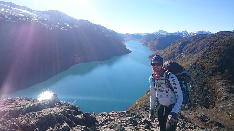 Erlend Knudsen in Norway's Jottunheimen mountains (Pic: Pole to Paris)
