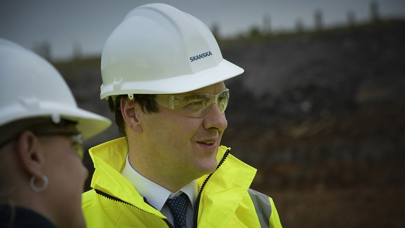 Chancellor George Osbourne visiting an infrastructure project site (Flickr/Number 10)