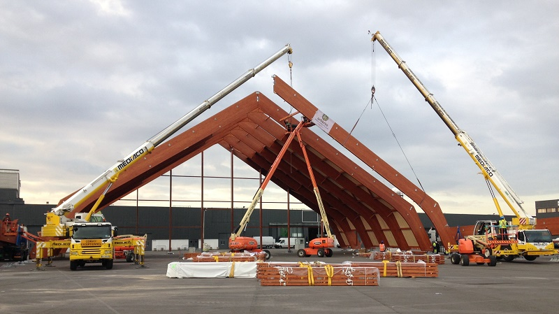 The COP21 venue under construction at Le Bourget (Pic: COP21)