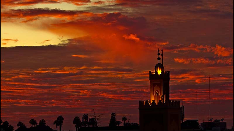 The sky over Marrakech (Flickr/ Elvin)