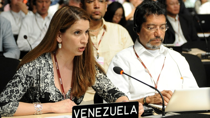 Venezuela lead negotiator Claudia Salerno (Pic: IISD)