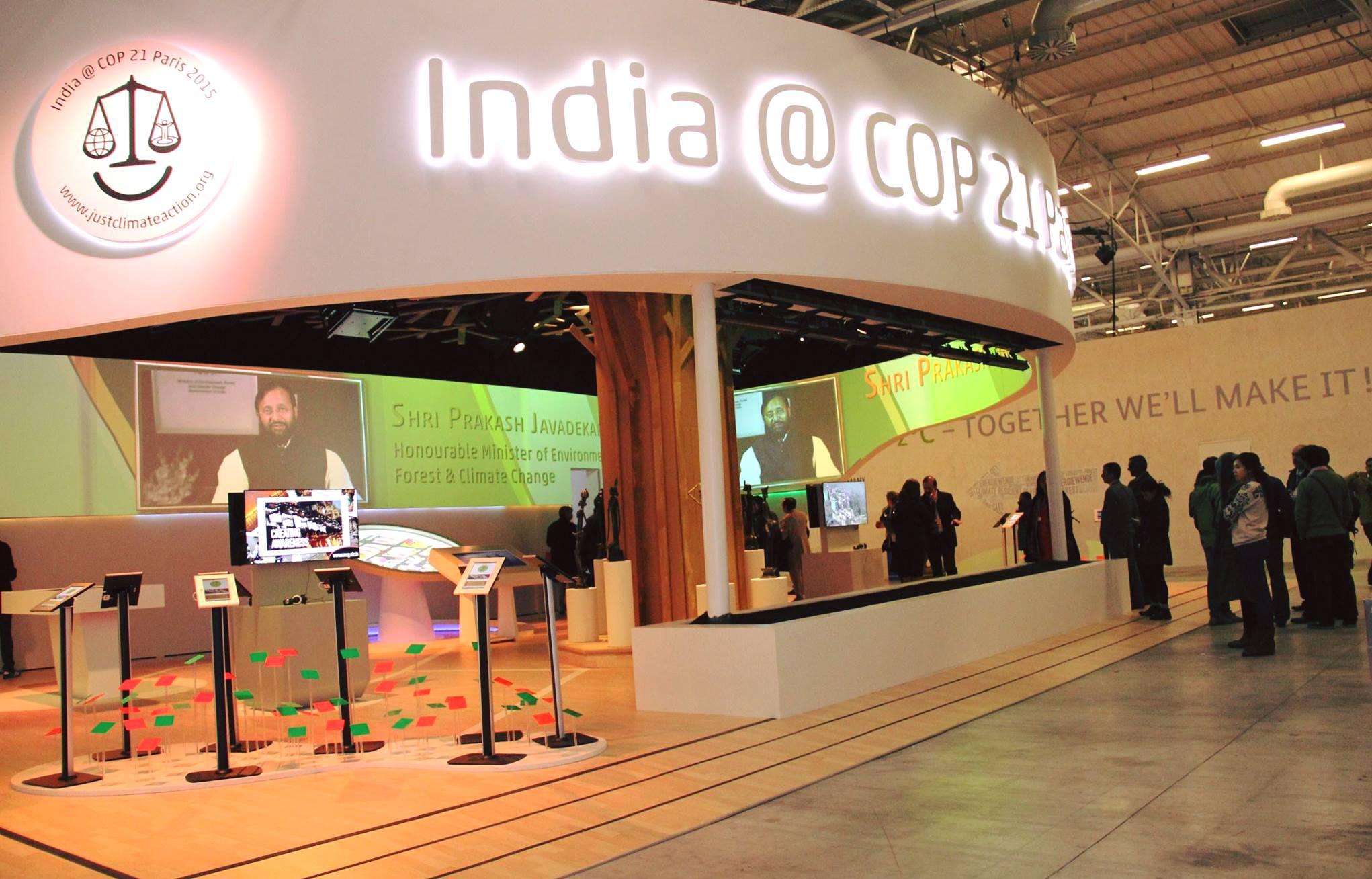 India pavilion at COP21 venue in Paris. (Pic: Avik Roy)