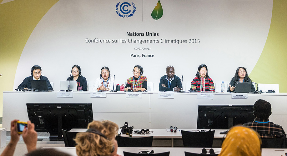 An event at COP21 on Strengthening Indigenous Peoples' Adaptation Strategies and Food Security through Direct Access to the Green Climate Fund (GCF)