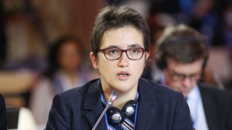 Luxembourg official and EU negotiator Sarah Blau (Pic: IISD-ENB)