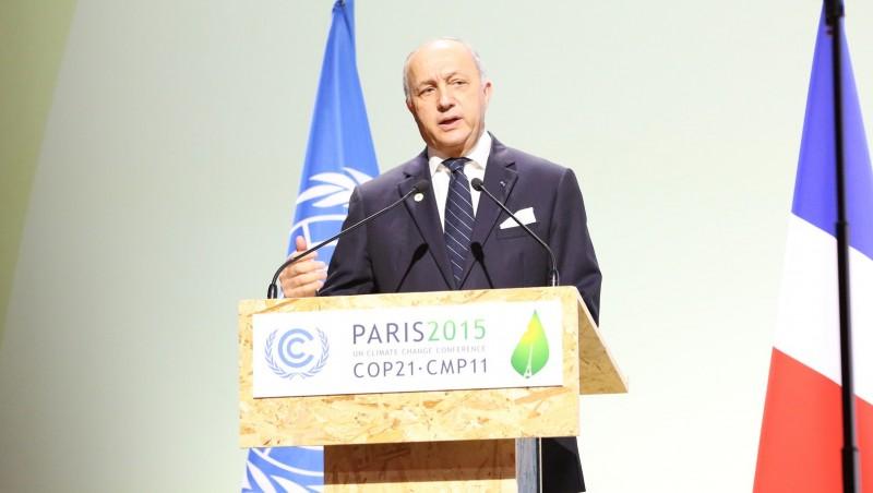 COP21 president Laurent Fabius (Pic: UNFCCC/Flickr)