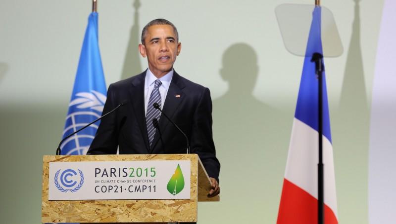 Barack Obama addresses the COP21 talks (Pic: UNFCCC/Flickr)