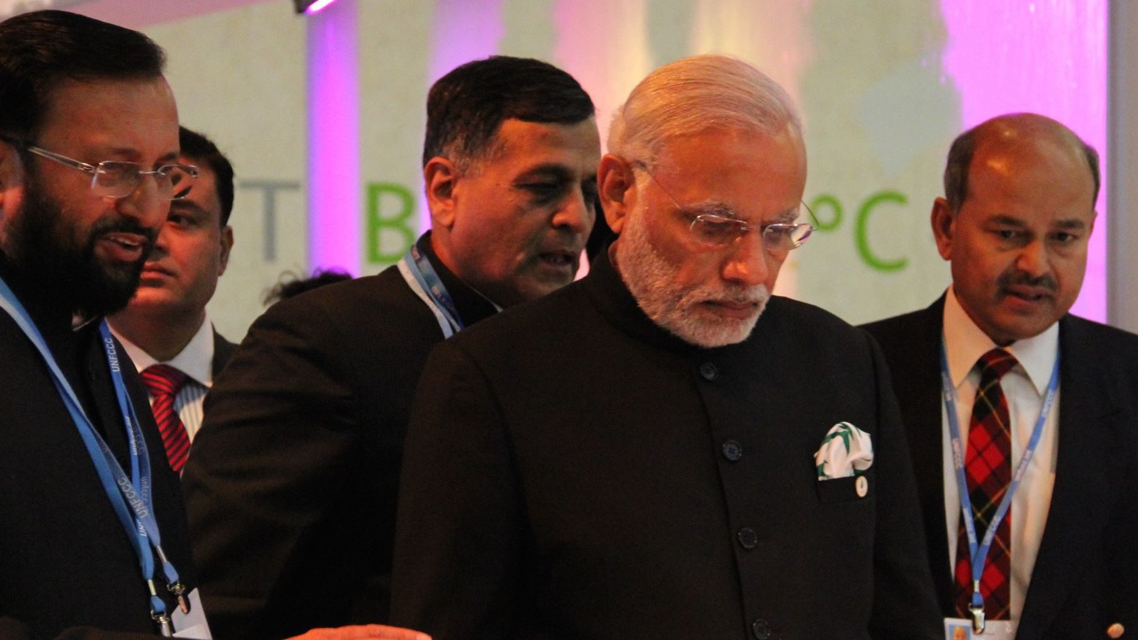 Lead India negotiator Susheel Kumar (far right) with Indian prime minister Narendra Modi (Pic: Avik Roy)