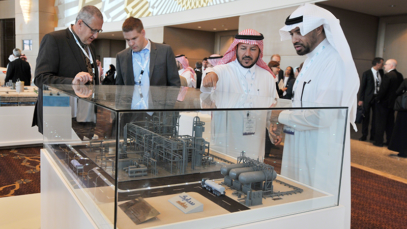 Delegates inspecting a model of a CCS plant at the Carbon Sequestration Leadership Forum in Riyadh, Saudi Arabia on Nov 4 (credit: IISD reporting services) Large-scale projects have doubled on a decade earlier, with 15 set to be running by the end of 2015, with a combined capacity of 28 million tonnes of CO2 a year.