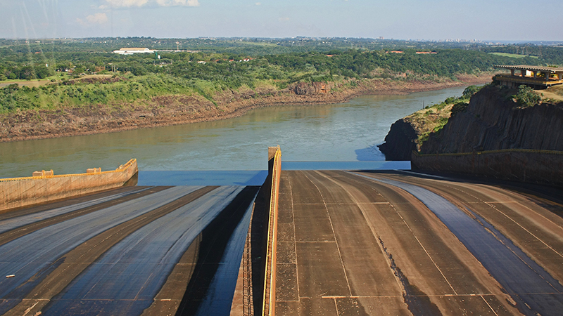 Brazil's Itaipu dam on the Paraguay border was built in 1984 (Flickr/ alobos Life) Follow Central Itaipu Binacional