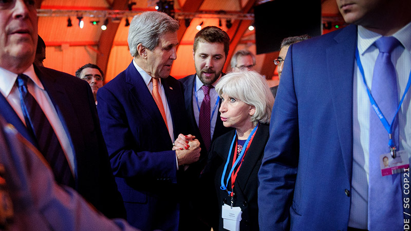 US support for a global pact - driven by secretary of state John Kerry - was a vital element in securing agreement (Pic: COP21/Flickr)