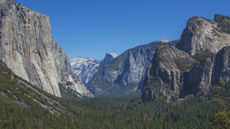 Yosemite national park in California is one of many in the region afflicted by drought - water levels in the Merced River are up to 4 feet lower than usual (Pic: Pixabay)