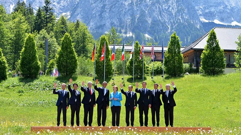 (The G7 Countries are: Germany, France, UK, Italy, Japan, Canada and the United States. The EU organisation although not a member will also be represented.) (Flickr/ Crown copyright/ Arron Hoare)