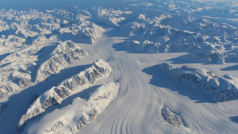 Formed over millennia, the vast Greenland ice sheet is showing signs of melting (Pic: NASA/Flickr)
