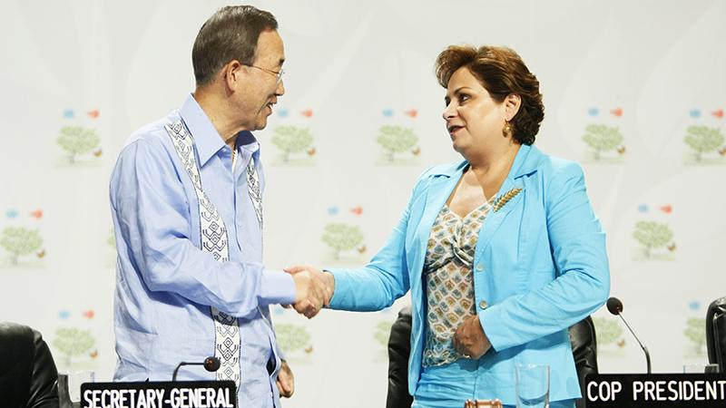 Ban Ki-moon and COP16 president Patricia Espinosa (Pic: UN Photos)