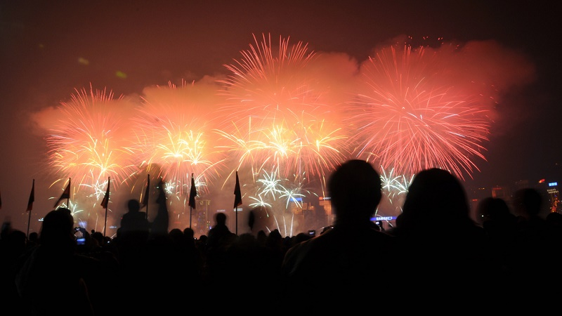 Fireworks to celebrate the lunar new year (Flickr/Robert Lowe)