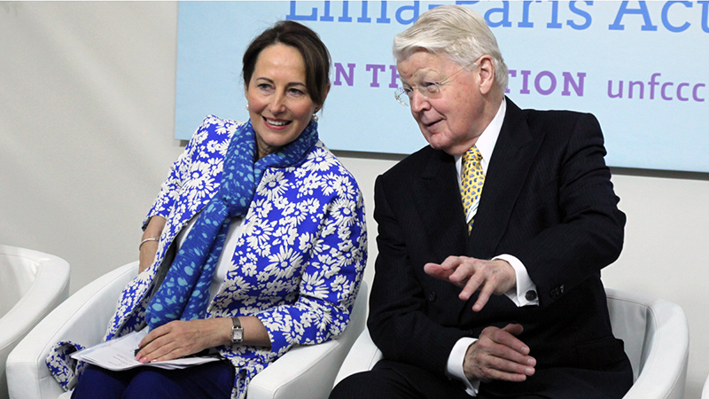 Ségolène Royal, Minister of Ecology, Sustainable Development and Energy, France, with Ólafur Ragnar Grímsson, President of Iceland