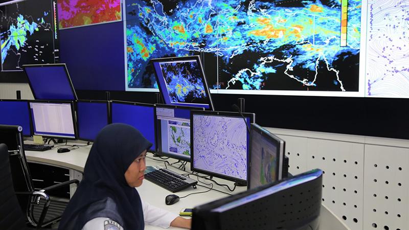 Meteorologist at Indonesia Meteorological and Geophysical Agency, BMKG (credit: WMO)