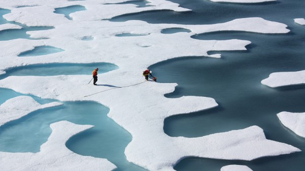 Arctic sea ice falls to record low for winter
