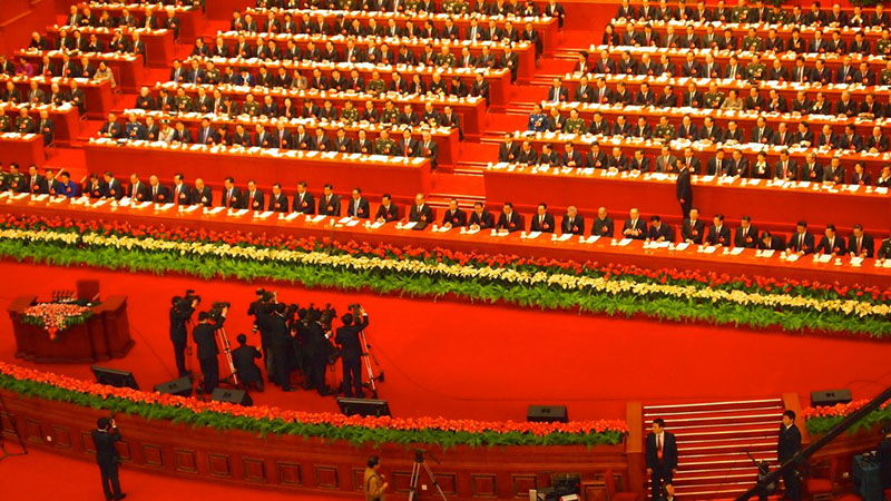 Remko Tanis Follow 18th CPC Congress Beijing Nov 2012 China's leaders at the start of the 18th National Congress of the Communist Party of China at the Great Hall of the People in Beijing, China