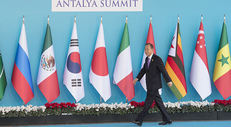 Secretary-General Ban Ki-moon at the Official welcoming event by H.E. Mr. Recep Tayyip Erdoğan, President of Turkey.