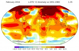 Global warming: February temperature rise 'unprecedented'