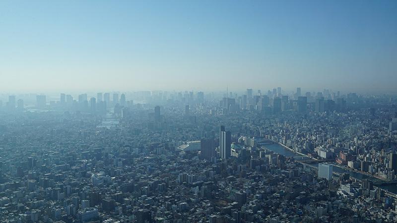 Urban smog masking the Tokyo skyline (Pic: Pixabay)