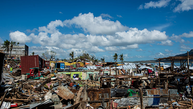Houses destroyed by Typhoon Haiyan in 2013 (Flickr/ Asian Development Bank)
