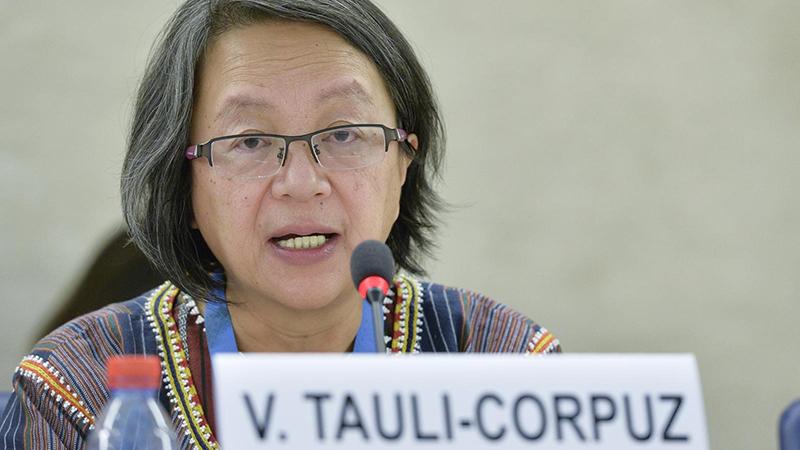 Victoria Tauli-Corpuz assumed her role in 2014 (credit: UN Photo / Jean-Marc Ferré)
