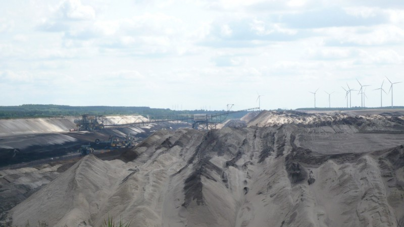 An opencast lignite mine in East Germany Flickr/GuenterHH)